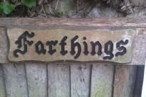 """The entrance gate to Sir Patrick Moore's home, """"Farthings""""."""