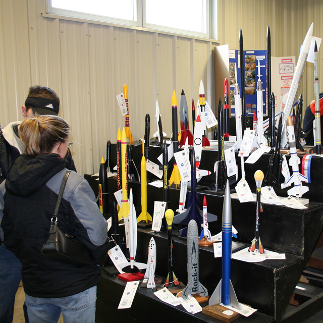 4-H model rockets at the Kansas State Fair 2007. Photo by Jessie Zerger