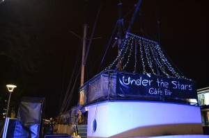 """Under the Stars"" social venue by Bristol Harbour. Credit: Marco Marsh."
