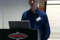 Prof. George Fraser at the 2006 UKSEDS National Student Space Conference (NSSC)