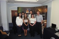 Contenders for the IAC2014 prize: (left to right) Chris Welch (Judge), Chiara Palla, Francisco Comin, Tijana Bogicevic, Nathan Donaldson, Ciara McGrath and Stuart Eves (Judge). Chris Welch