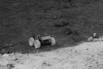 The winning rover from Imperial College emerging into the Lunar day